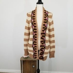 Sparrow Anthro blend chunky knit cardigan J25